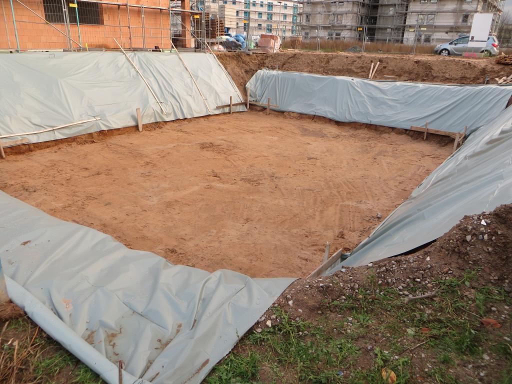 Baugrube ist fertig