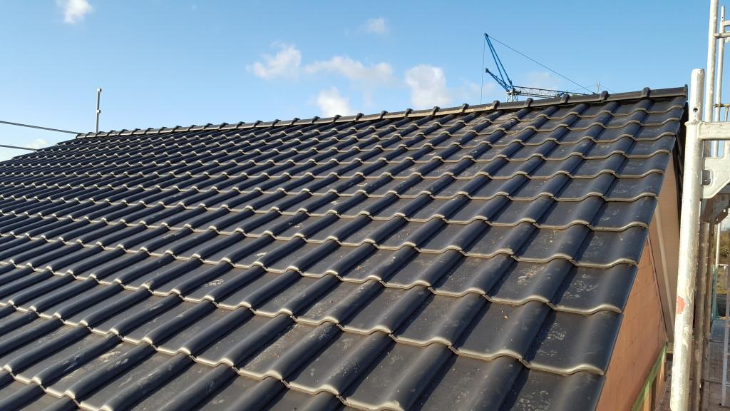 Dachfläche von Nahem